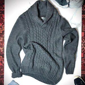 L.O.G.G dark grey knit sweater.by H&M